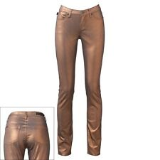 NEW Rock & Republic Womens Misses Jeans Pants Bronze Foil --$88 tag-- Size 2 4 8