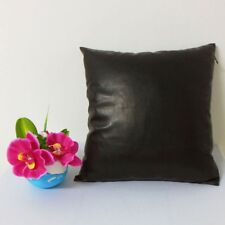 "Grade AAAAA ""Black""Faux Leather Cushion Cover Case Custom Made"" qs-2066-black"