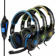 Sades Stereo HiFi Headset Headband 3.5mm PC Notebook Pro Gaming Headset w/Mic