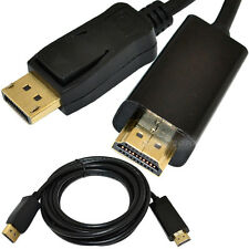 3Ft 6.5Ft 10Ft 1m 2m 3m DP Display port male to HDMI Male plug Gold Plated Cable