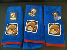 Angry Birds Star Wars Blue Hand Towels 16x28 chewbacca