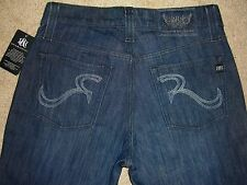 ROCK & REPUBLIC Neil Relaxed Straight Dark Denim Jeans Mens Size 30 New