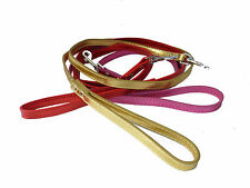 Dog Pet Leads Lead Leeds Leash Shiney Pink Gold Red Male Female Matching Collar