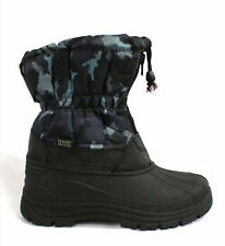 59e Kids Snow Boots Black Camouflage Toggle Ski Moon Size 1-5.5