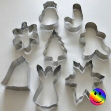 Christmas Cookie Biscuit Pastry Cutters Snowman Angel Snowflake  Bell Tree Star