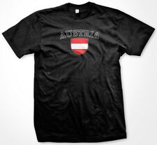 Austria Country Crest Flag Colors Nationality Ethnic Pride -Mens T-shirt