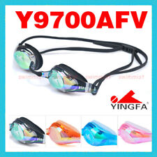 YINGFA Y9700AFM SWIMMING GOGGLES ANTI-FOG UV PROTECTION BLACK BLUE ORANGE PINK!!