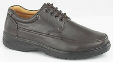 MENS dark brown FAUX LEATHER SHOES lace up WORK APRON STURDY  SCHOOL