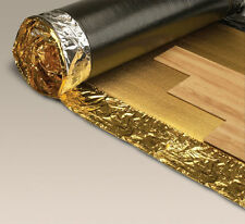 LAMINATE & WOOD FLOORING UNDERLAY, ACCOUSTIC - WHITE - SILVER - GOLD - VAPOUR
