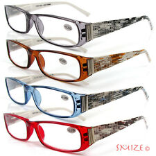 Reading Glasses Single Vision Full Frame 2Tone Abstract Readers 100-225