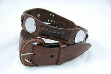 Western Express Leather Scalloped Belt with Conchos XM-233 *CLOSEOUT*