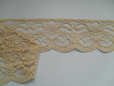 "TOP QUALITY PRETTY COFFEE SKINTONE NOTTINGHAM  LACE 2.5"" wd  Clothing/Card/Trim/"