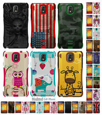 BC TRI-SHIELD DESIGN CASE RUBBER SKIN HARD COVER STAND FOR SAMSUNG GALAXY NOTE 3