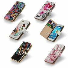 Colorful Design Wallet Card Leather Case Cover For Samsung Galaxy S4,GT- i9500