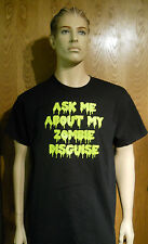 Ask Me About My Zombie Disguise Black 100% Cotton T-Shirt