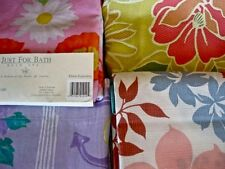 Tropical Floral Shower Curtain: Dahlia Hibiscus Explosion Silhouette Madden NEW