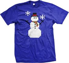 8Bit Frosty The Snowman -Funny Winter Snow Holidays Video Game -Men's T-shirt