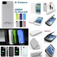 2200 3200mAH Portable Charger Case External Battery Pack F iPhone 4 4S 5 5S S3 4