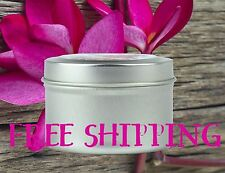 All Natural Soy Candle Tins 16oz with Essential & Natural Oils - Choose Scent