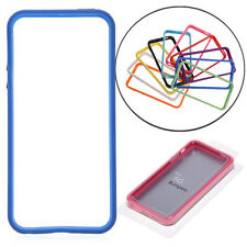 New Soft TPU Skin Bumper Frame Case Cover W/Side Buttons For Apple iPhone 5G 5S