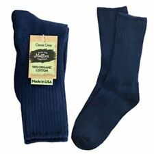 Maggie's Organic Socks Cotton Crew  Singles Made in USA Choice of Colors & Sizes