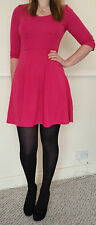 BNWOT Ex- Dorothy Perkins Pink Skater Fit n Flare Jersey Ponte Dress Free UK P&P