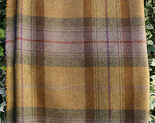 Wool Tweed Curtain/Upholstery Fabric - Plaid - Autumn Gold