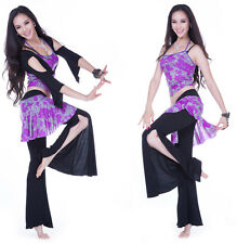 3 pcs set Blouse/Tank Top Vest/Tribal Pants Belly Dance Costumes 6 colors