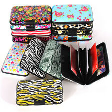 Leopard Pocket Waterproof Business ID Credit Card Wallet Holder Metal Box Case