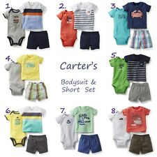 NEW Carter's Baby Boys 3 Piece Bodysuit Short Set Clothes 3 6 9 12 18 24 Months