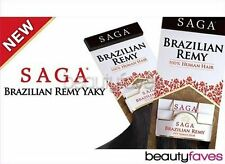 SAGA BRAZILIAN KERATIN REMY YAKY BY MILKYWAY 100% HUMAN HAIR WEAVE EXTENSION