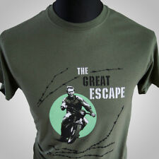The Great Escape Movie Themed Retro T Shirt Steve McQueen Cool WWII Hipster Tee
