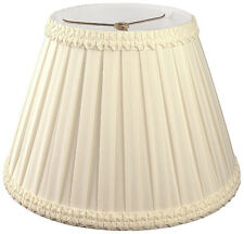 Pleated Ruffled Empire designer lamp shade (8, 10, 12, 14, 16 in.) in 3 colors