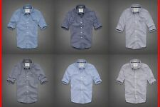Abercrombie&Fi​tch MEN CLASSIC DRESS SHIRT SLIM FIT 100%Cotton NWT S,M,L,XL,XXL