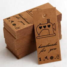 ♥DIY 20/50 Zakka Brown Handmade For You Sewing Machine Card Tags Craft Label♥