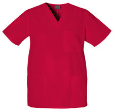 Red Cherokee Workwear Unisex  V Neck Scrub Top 4876 REDW