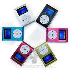 Reproductor Lector MP3 Player Clip Aluminio USB LCD Screen FM Radio hasta 32GB