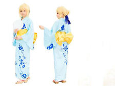 Fate Stay Night Saber Yukata Kimono Costume Cosplay NEW
