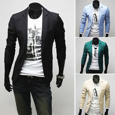Men's Slim fit Stylish One Button Blazers Coat Jacket trendy trench Suit outwear