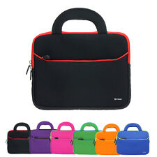 Neoprene Dual Pocket Zipper Sleeve Case Bag with Handle For 8.9~10.1 inch Tablet