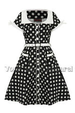 VOODOO VIXEN BOBBIE BLACK WHITE DAISIES FLOWERS DRESS SWING VINTAGE ROCKABILLY