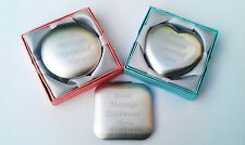 Personalised Engraved Handbag Compact Mirror Birthday Gift Wedding Gift