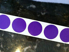 """1"""" inch Round PURPLE SCRATCH OFF STICKERS LABELS TICKETS PROMOTIONAL GAME FAVORS"""