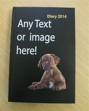 Personalised 2014 DIARY - A5 Size - Page A Day - text image logo photo printed