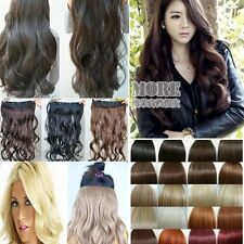 Sexy Curly Wavy 16 Clip in Human Made Hair Extensions Pieces black brown blonde