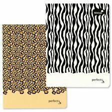 Silvine Perfecto A5 Animal Print Notebook Writing Book Lined Perforated Pages
