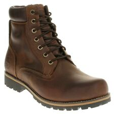 New Mens Timberland Brown 6` Waterproof Plain Toe Boot Leather Boots Work Lace