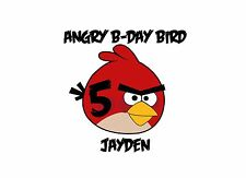 Angry Birds Birthday Boy Girl Sister Brothe T-SHIRT DESIGN DECAL - personalized