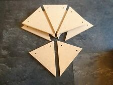 200 MDF bunting triangles for craft or diy 140mm x 115mm cheap price 6mm