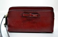 NWT Coach POPPY TEXTURED PATENT DOUBLE ZIP WALLET/Wristlet 49631 VERY CUTE!!!